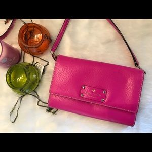 Kate Spade Crossbody leather bag in pink